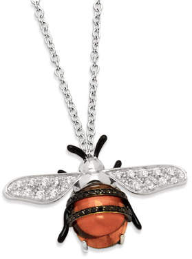 Bumble Bee Staurino Fratelli 18k Nature Pendant Necklace