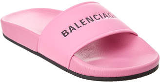 Balenciaga Leather Pool Sandal