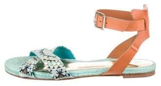 Emilio Pucci Printed Crossover Strap Sandals