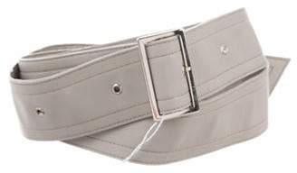 Max Mara Leather Waist Belt Grey Leather Waist Belt
