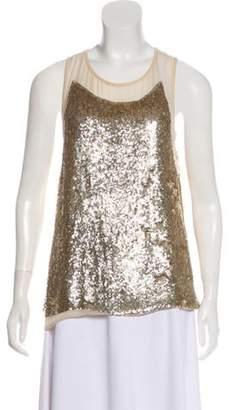Stella McCartney Silk Sleeveless Top Gold Silk Sleeveless Top