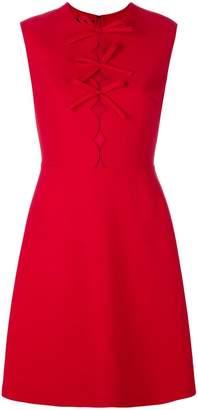 Giambattista Valli bow front sleeveless mini dress