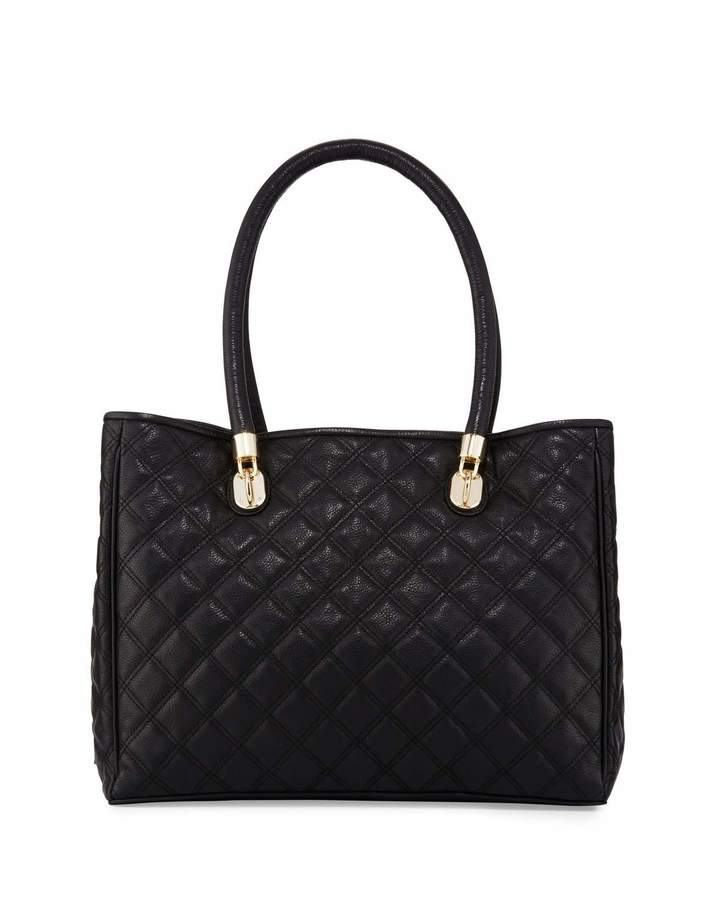 Cole Haan  Cole Haan Benson Quilted Leather Tote Bag, Black
