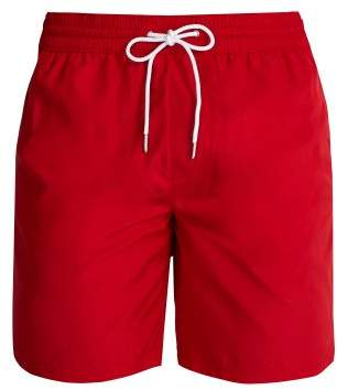 Burberry Logo Side Striped Swim Shorts - Mens - Red