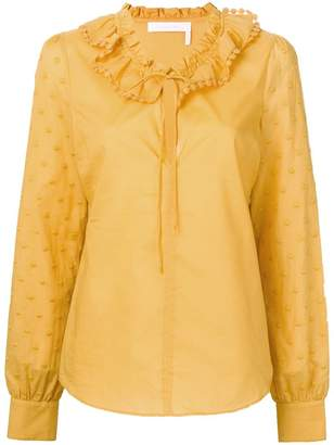 See by Chloe polka dot-embroidered blouse