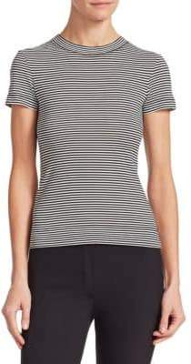 Theory Apex Stripe Crew Cotton Tee