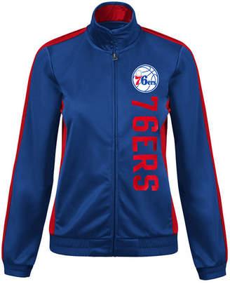 G-iii Sports Women Philadelphia 76ers Backfield Track Jacket