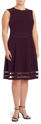 Calvin Klein Plus Aubergine A-Line Dress
