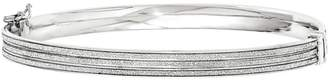 Italian Silver Glimmer Channel Hinged Bangle, 7.7g