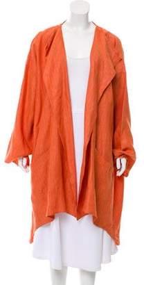 eskandar Herringbone Linen Coat