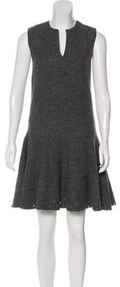 Cacharel Perforated Wool Dress