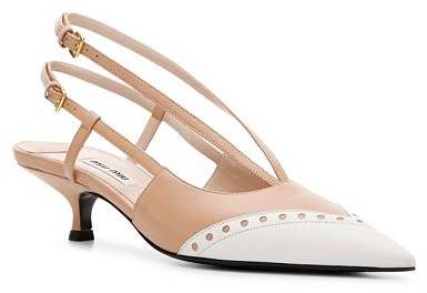 Miu Miu Leather Cap Toe Pump