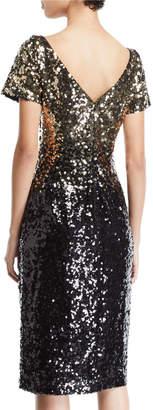 Marina Ombre Sequin Sheath Dress