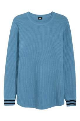 H&M Textured Wool-blend Sweater