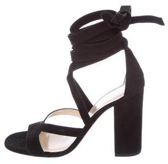 Barneys New York Barney's New York Suede Lace-Up Sandals