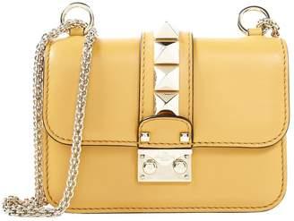Valentino Glam Lock leather clutch bag