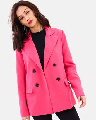 Missguided Blazer With Shoulder Pads