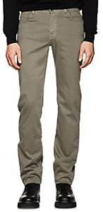 Marco Pescarolo Men's Stretch Cotton-Silk Five-Pocket Pants-Light Gray