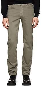 Marco Pescarolo Men's Stretch Cotton-Silk Five-Pocket Pants - Light Gray