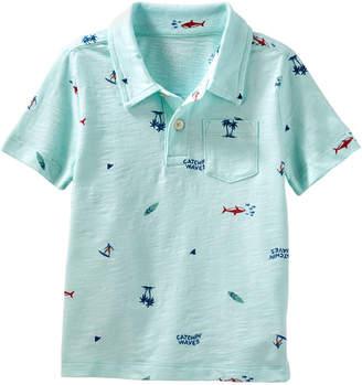 Osh Kosh Oshkosh Short Sleeve Jersey Polo Shirt - Baby Boys