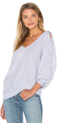 Autumn Cashmere Double V Laced Dolman Sweater $330 thestylecure.com