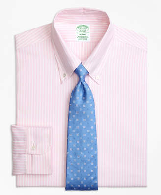 Brooks Brothers Original Polo Button-Down Oxford Milano Slim-Fit Dress Shirt, Ground Stripe