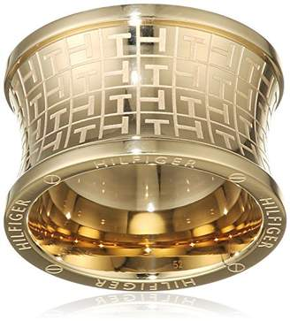 6aba6d8bc Tommy Hilfiger Women's Gold-Plated Stainless-Steel Waist Jacquard Print Ring  - Size E