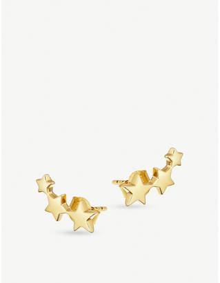 Missoma Ltd Celestial 18ct gold vermeil and pavê Star Cosmic stud set