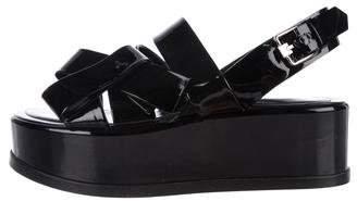 Tod's Patent Leather Flatform Sandals