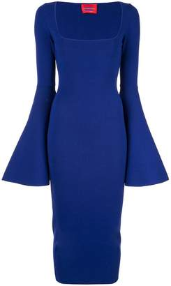 SOLACE London Serra bell sleeve dress