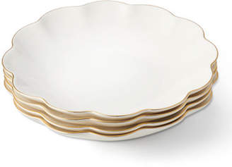 AERIN Scalloped Appetizer Plates, Set of 4