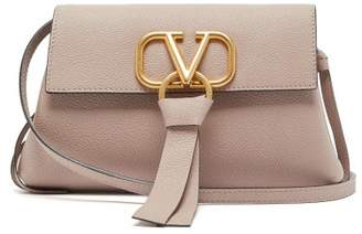 Valentino V Ring Small Grained Leather Cross Body Bag - Womens - Nude