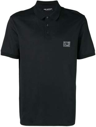 Neil Barrett chest patch polo shirt