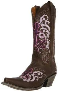 Justin Women's Classic Western Fashion Boot,Sepia Calf/Lavender Cross,10 B US