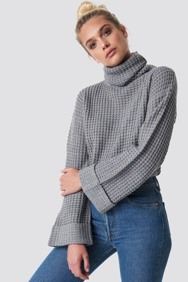 NA-KD Na Kd Short Pineapple Knitted Sweater Black