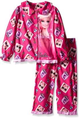 Barbie Little Girls' Long Sleeve Pajama Set with Panel