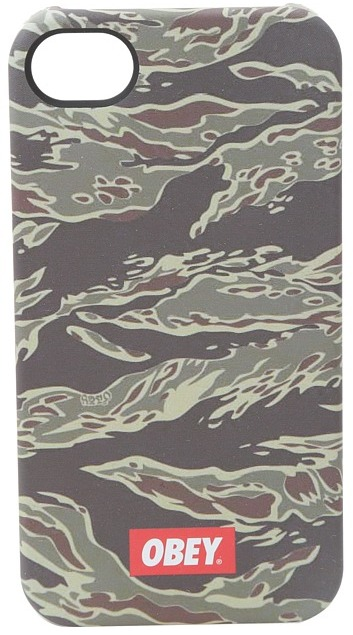 Obey Quality Dissent Cell Phone Case iPhone 4/4S (Tiger Camo) - Electronics