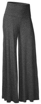 CFR Women's Comfy High Waist Harem Pants Casual Dress Flowy Full Length Long Wide Leg Trousers ,M