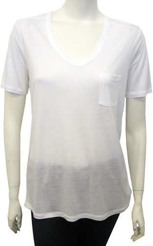 T By Alexander Wang Classic Pocket Tee In White