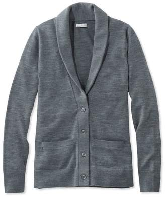 L.L. Bean L.L.Bean Signature Washable Merino Shawl-Collar Cardigan
