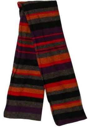 Rykiel Homme Striped Merino Wool Scarf