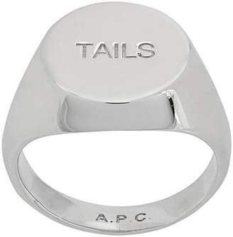 A.P.C. Tails signet ring