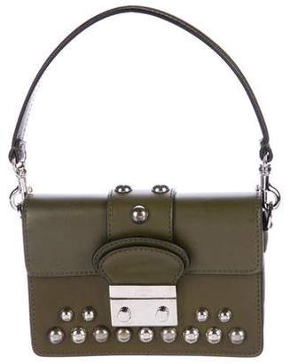 RED Valentino Smooth Leather Stud Satchel
