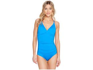 Jantzen Solids Macrame One-Piece Women's Swimsuits One Piece