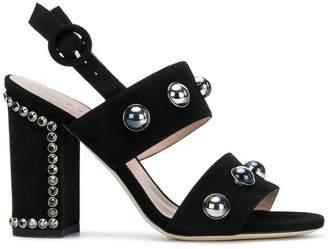 Alberto Gozzi block heel embellished sandals