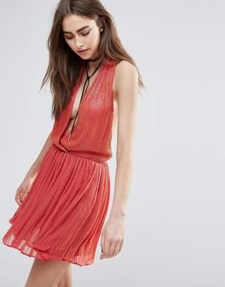 Raga Be Mine Embellished Mini Dress in Coarl