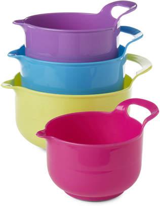 Gourmet Home 4-Piece Rainbow Mixing Bowl Set