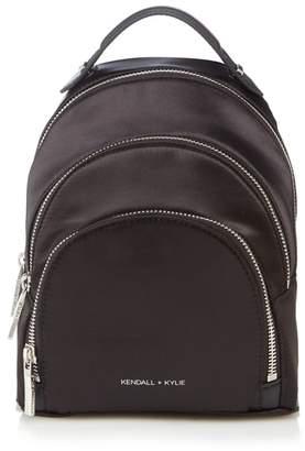 KENDALL + KYLIE Kendall & Kylie Black 'Sloane' Satin Mini Backpack