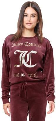 Velour Juicy Mirror Emblem Pullover