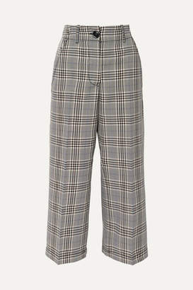 MM6 MAISON MARGIELA Cropped Checked Wool-blend Pants